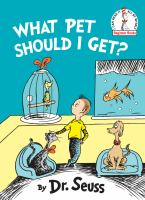 What pet should I get? Book cover
