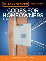 Codes for homeowners : electrical, plumbing, construction, mechanical, current with 2018-2021 codes Book cover