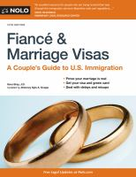 Fiancé & marriage visas : a couple's guide to U.S. immigration Book cover