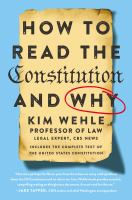 How to read the Constitution and why Book cover