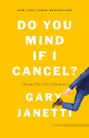 Do you mind if I cancel? : (things that still annoy me) Book cover
