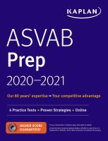 ASVAB Prep 2020-2021 Book cover