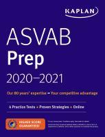 ASVAB Prep 2020-2021  Cover Image