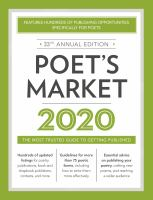 Poet's Market 2020 Book cover