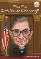Who is Ruth Bader Ginsburg? Book cover