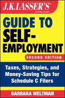 J.K. Lasser's guide to self-employment : taxes, strategies, and money-saving tips for Schedule C filers Book cover