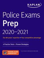 Police exams prep 2020-2021. Book cover