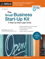 The small business start-up kit : a step-by-step legal guide  Cover Image