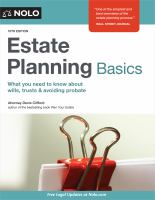 Estate planning basics Book cover