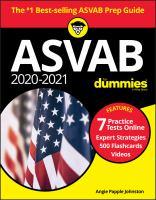 2020/2021 ASVAB for dummies Book cover
