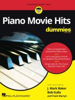 Piano movie hits for dummies  Cover Image