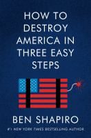 How to destroy America in three easy steps Book cover