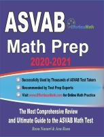 ASVAB math prep 2020-2021 : the most comprehensive review and ultimate guide to the ASVAB math test Book cover