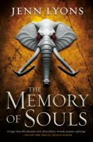 The memory of souls Book cover