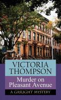 Murder on Pleasant Avenue Book cover