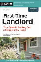 First-time landlord : your guide to renting out a single-family home Book cover