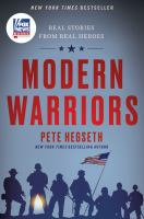 Modern warriors : real stories from real heroes Book cover