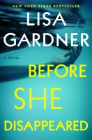 Before she disappeared : a novel Book cover