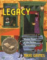 Legacy : women poets of the Harlem Renaissance Book cover