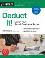 Deduct it! : lower your small business taxes Book cover