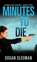 Minutes to die Book cover