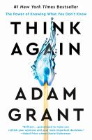 Think again : the power of knowing what you don't know Book cover