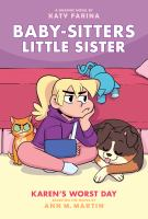Baby-sitters little sister. 3 Karen's worst day Book cover