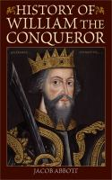 History of William the Conqueror Book cover