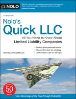 Nolo's quick LLC  Cover Image