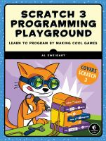Scratch 3 programming playground : learn to program by making cool games Book cover