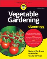 Vegetable gardening for dummies Book cover