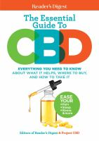The essential guide to CBD : everything you need to know about what it helps, where to buy, and how to take it Book cover