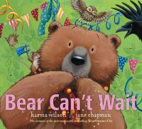 Bear can't wait Book cover