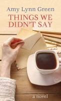 Things we didn't say Book cover
