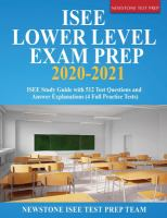 ISEE Lower Level exam prep 2020-2021 : ISEE study guide with 512 test questions and answer explanations (4 full practice tests)  Cover Image