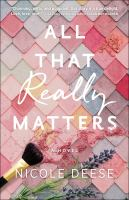 All that really matters Book cover