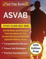 ASVAB study guide 2021-2022 : ASVAB book and practice test questions for the Armed Services Vocational Aptitude Battery exam Book cover
