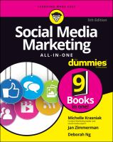 Social media marketing all-in-one Book cover