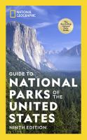 Guide to national parks of the United States. Book cover