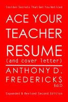 Ace your teacher resume - and cover letter : insider secrets that get you noticed Book cover
