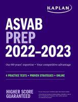 ASVAB prep 2022-2023 : 4 practice tests + proven strategies + online Book cover
