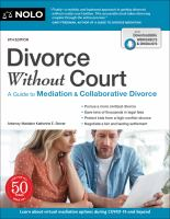 Divorce without court : a guide to mediation & collaborative divorce Book cover
