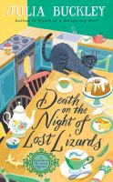 Death on the night of lost lizards Book cover