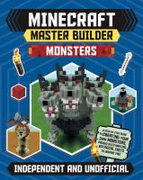 Minecraft master builder. Monsters Book cover