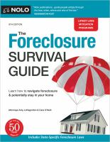 The foreclosure survival guide : keep your house or walk away with money in your pocket Book cover