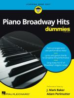 Piano Broadway hits for dummies  Cover Image