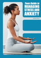 Teen guide to managing stress and anxiety Book cover