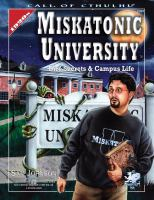 Miskatonic University : a handbook to the pride of Arkham Book cover