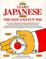 Go to record Learn Japanese (Nihongo) the fast and fun way